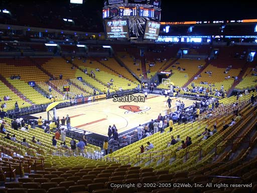Seat view from section 109 at American Airlines Arena, home of the Miami Heat