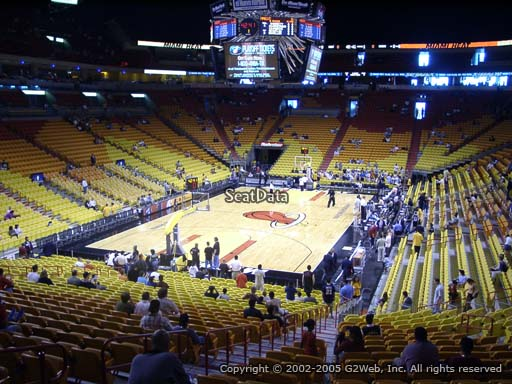 Seat view from section 111 at American Airlines Arena, home of the Miami Heat