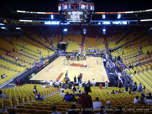 Seat view from section 112 at American Airlines Arena, home of the Miami Heat