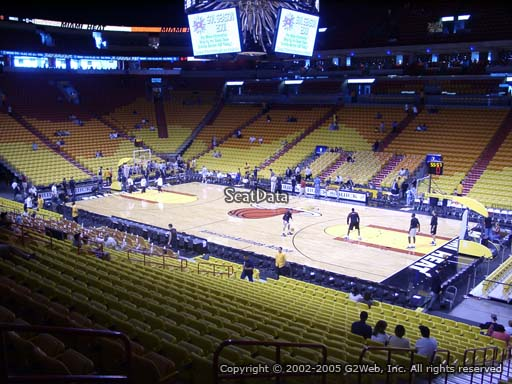 Seat view from section 116 at American Airlines Arena, home of the Miami Heat