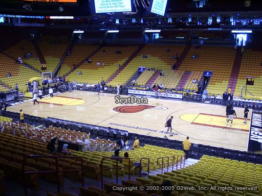 Seat view from section 117 at American Airlines Arena, home of the Miami Heat