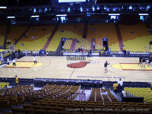 Seat view from section 118 at American Airlines Arena, home of the Miami Heat