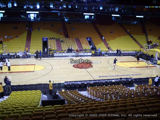 Seat view from section 119 at American Airlines Arena, home of the Miami Heat