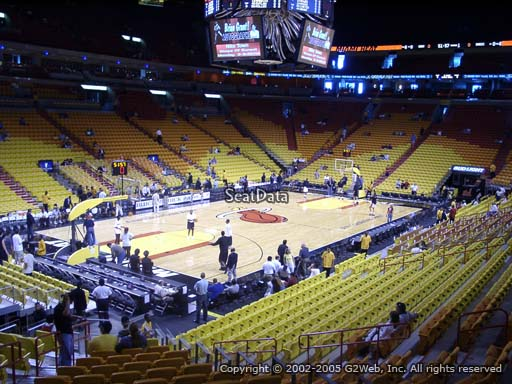Seat view from section 121 at American Airlines Arena, home of the Miami Heat