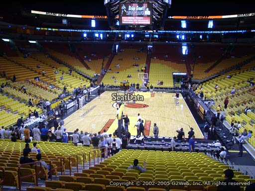 Seat view from section 124 at American Airlines Arena, home of the Miami Heat