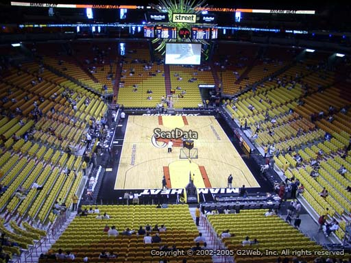 Seat view from section 301 at American Airlines Arena, home of the Miami Heat