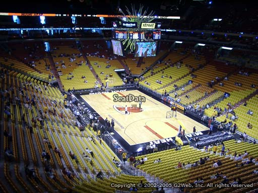 Seat view from section 303 at American Airlines Arena, home of the Miami Heat