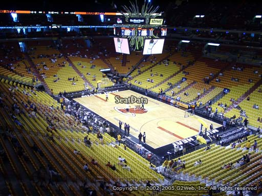 Seat view from section 304 at American Airlines Arena, home of the Miami Heat