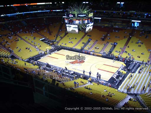Seat view from section 306 at American Airlines Arena, home of the Miami Heat
