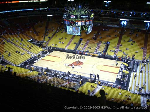 Seat view from section 307 at American Airlines Arena, home of the Miami Heat
