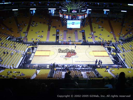 Seat view from section 309 at American Airlines Arena, home of the Miami Heat