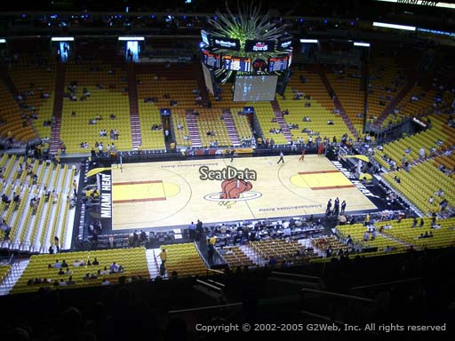 Seat view from section 310 at American Airlines Arena, home of the Miami Heat