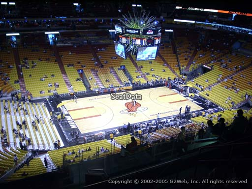 Seat view from section 311 at American Airlines Arena, home of the Miami Heat