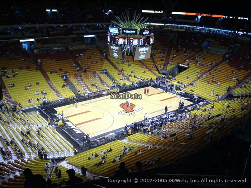 Seat view from section 312 at American Airlines Arena, home of the Miami Heat