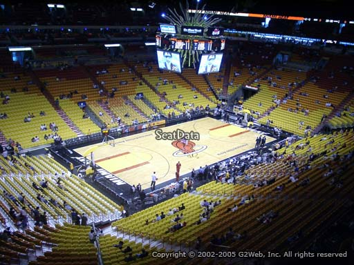Seat view from section 313 at American Airlines Arena, home of the Miami Heat