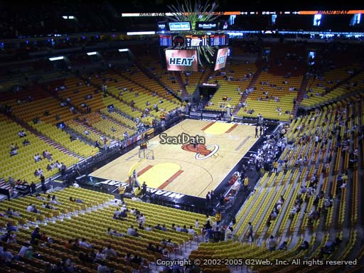 Seat view from section 314 at American Airlines Arena, home of the Miami Heat