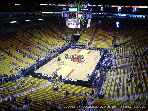 Seat view from section 315 at American Airlines Arena, home of the Miami Heat
