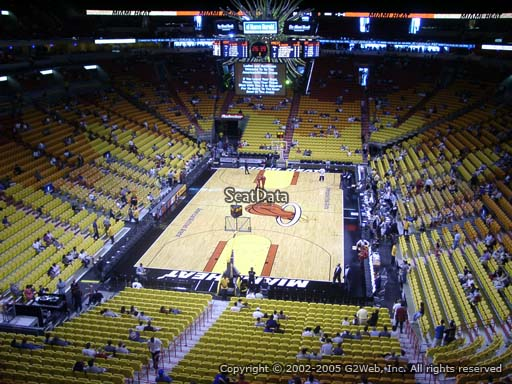 Seat view from section 316 at American Airlines Arena, home of the Miami Heat