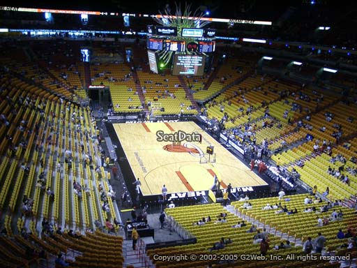Seat view from section 319 at American Airlines Arena, home of the Miami Heat