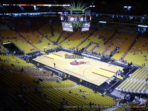 Seat view from section 320 at American Airlines Arena, home of the Miami Heat