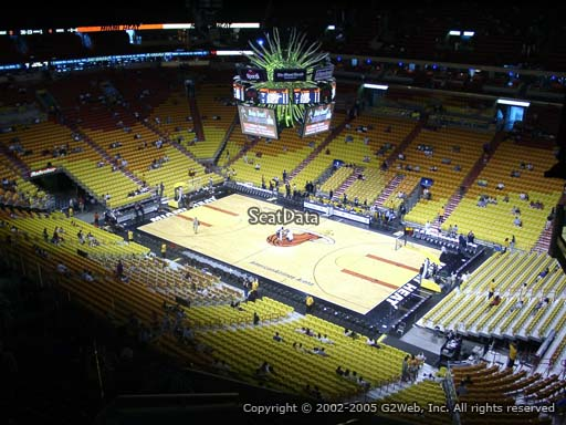 Seat view from section 321 at American Airlines Arena, home of the Miami Heat