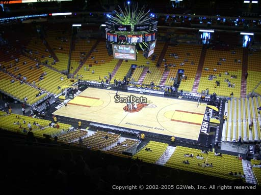 Seat view from section 323 at American Airlines Arena, home of the Miami Heat