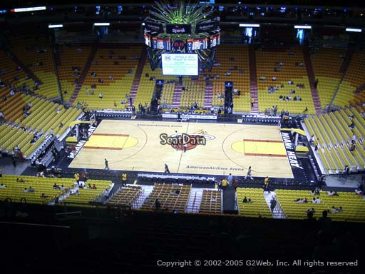 Seat view from section 324 at American Airlines Arena, home of the Miami Heat