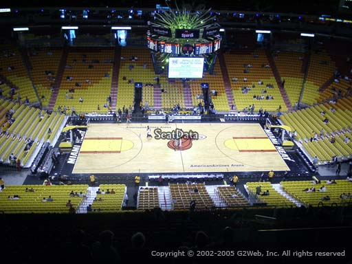 Seat view from section 325 at American Airlines Arena, home of the Miami Heat