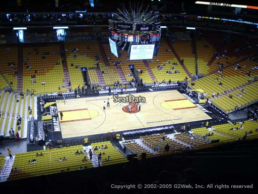 Seat view from section 326 at American Airlines Arena, home of the Miami Heat