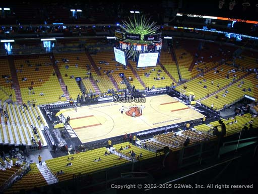 Seat view from section 327 at American Airlines Arena, home of the Miami Heat
