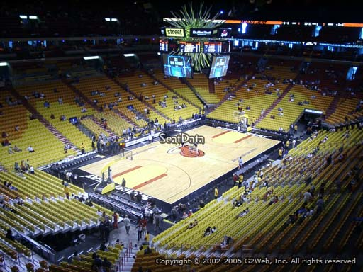 Seat view from section 329 at American Airlines Arena, home of the Miami Heat