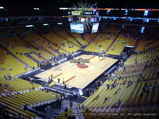 Seat view from section 330 at American Airlines Arena, home of the Miami Heat