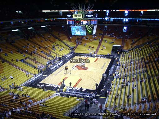 Seat view from section 331 at American Airlines Arena, home of the Miami Heat