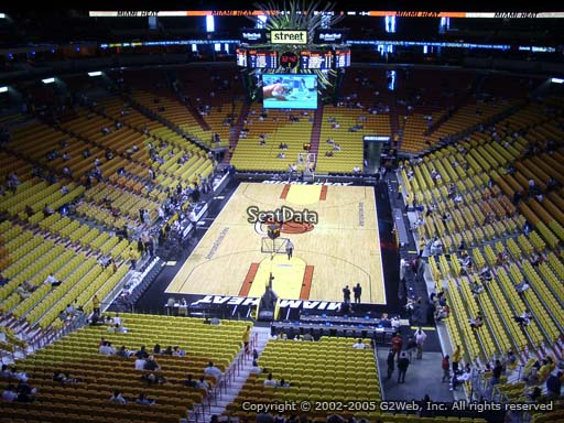 Seat view from section 332 at American Airlines Arena, home of the Miami Heat