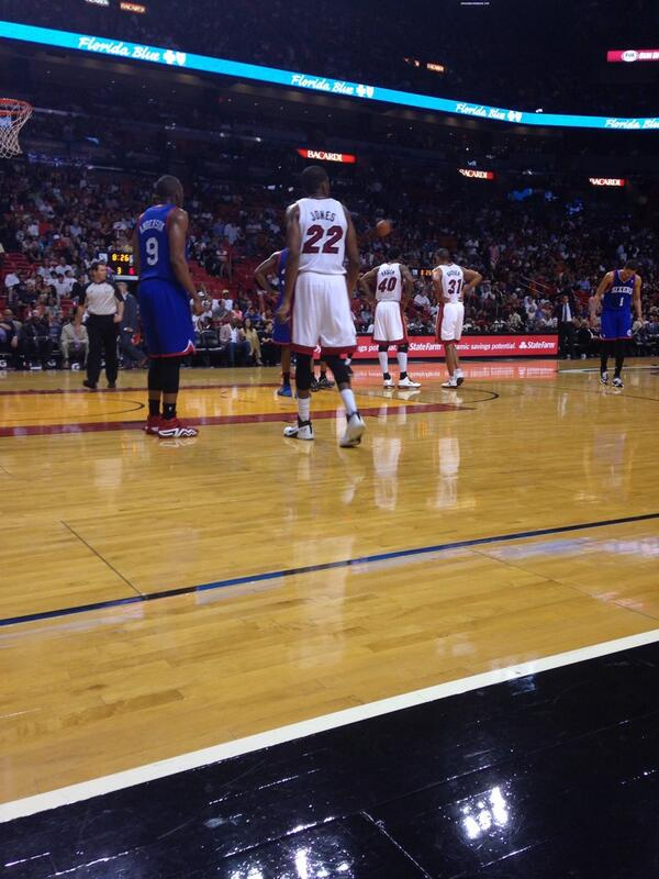 View from the Courtside South seats at American Airlines Arena