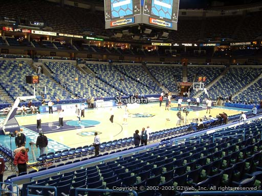 Seat view from section 103 at the Smoothie King Center, home of the New Orleans Pelicans