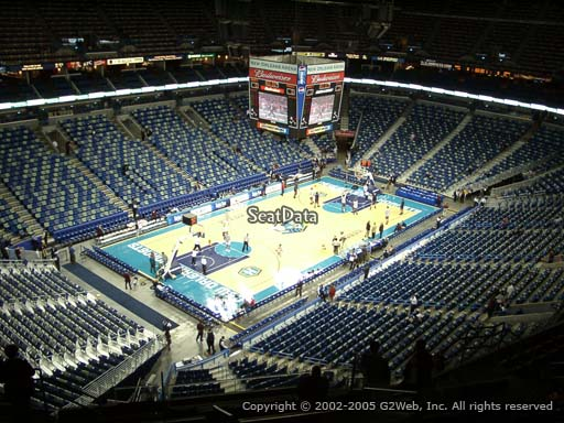 Seat view from section 304 at the Smoothie King Center, home of the New Orleans Pelicans