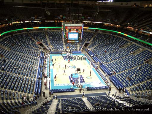 Seat view from section 309 at the Smoothie King Center, home of the New Orleans Pelicans