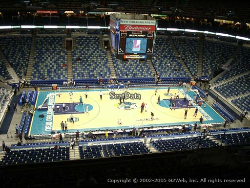 Seat view from section 317 at the Smoothie King Center, home of the New Orleans Pelicans