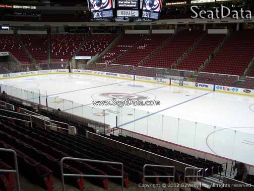 Seat view from section 101 at PNC Arena, home of the Carolina Hurricanes