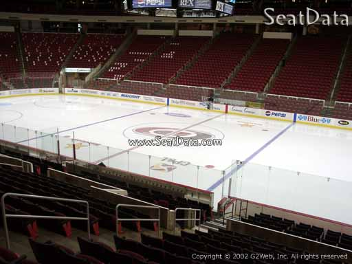 Seat view from section 102 at PNC Arena, home of the Carolina Hurricanes
