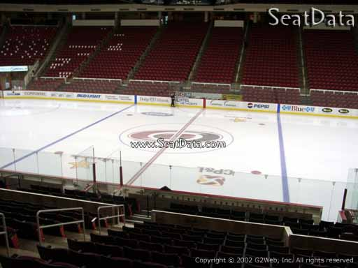 Seat view from section 103 at PNC Arena, home of the Carolina Hurricanes