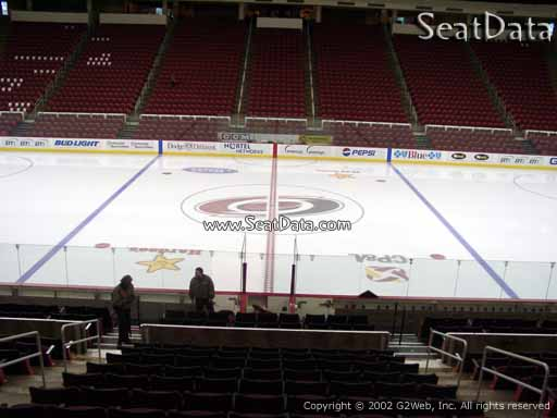 Seat view from section 104 at PNC Arena, home of the Carolina Hurricanes