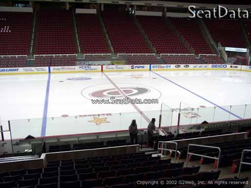 Seat view from section 105 at PNC Arena, home of the Carolina Hurricanes