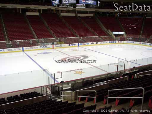 Seat view from section 106 at PNC Arena, home of the Carolina Hurricanes