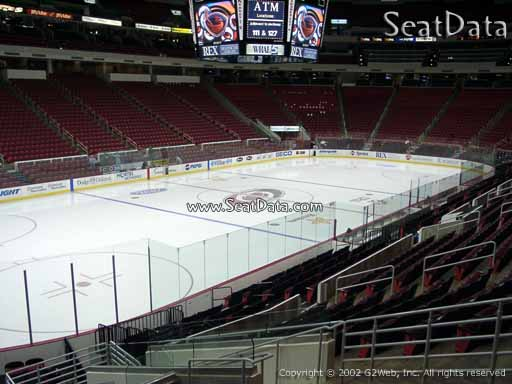 Seat view from section 108 at PNC Arena, home of the Carolina Hurricanes
