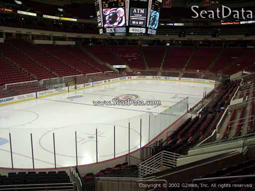 Seat view from section 109 at PNC Arena, home of the Carolina Hurricanes