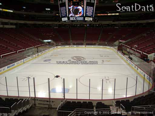 Seat view from section 111 at PNC Arena, home of the Carolina Hurricanes