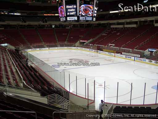 Seat view from section 114 at PNC Arena, home of the Carolina Hurricanes