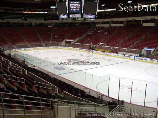 Seat view from section 115 at PNC Arena, home of the Carolina Hurricanes